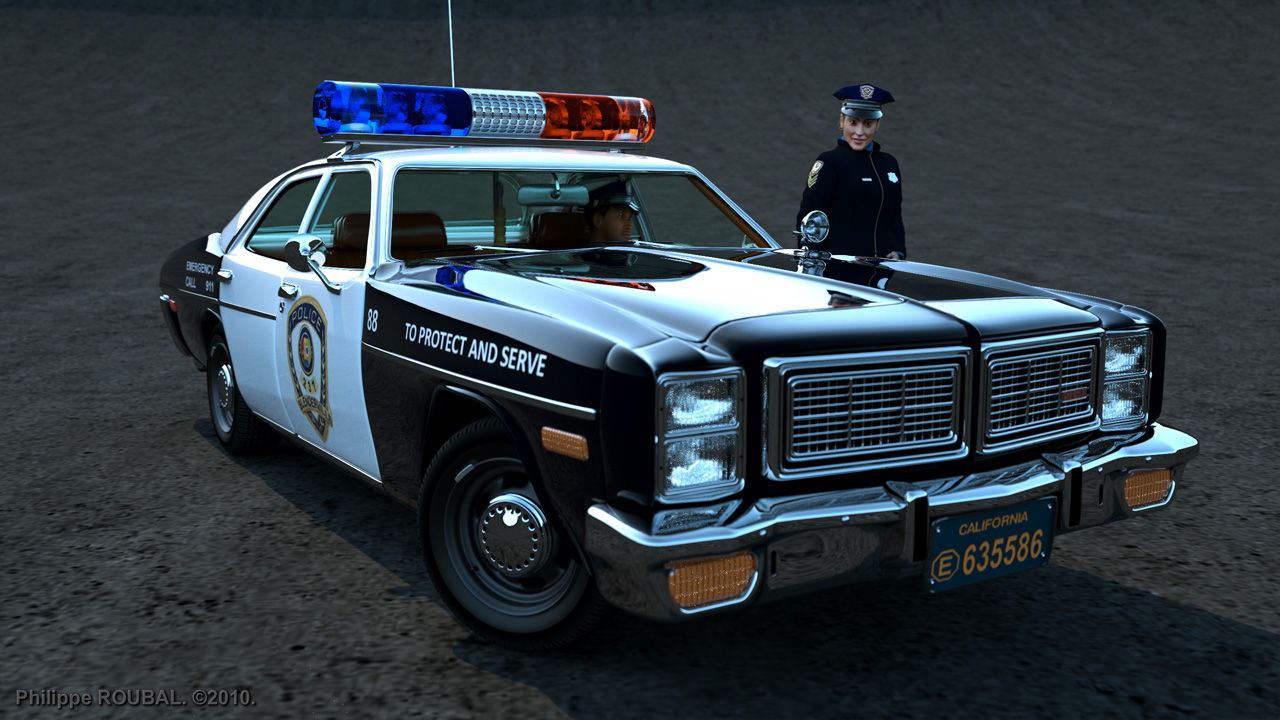 Police Station - Dodge Coronet 1975 and Dodge Monaco 1977 - Click to ...