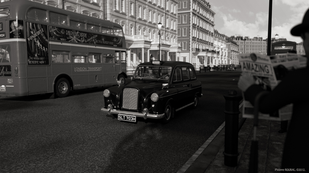 London scene around 1970